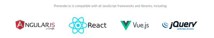 Blog React Prerender supported technologies